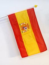 Spanien Flagga med stadsvapen