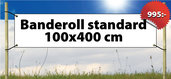 Banderoll Standard 100x400cm
