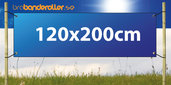 Banderoll Extra kraftig 120x200cm