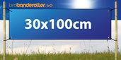 Dubbelsidig Banderoll Extra kraftig  30x100cm