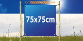 Dubbelsidig Banderoll Extra kraftig 75x75cm