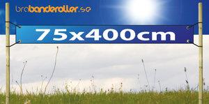 Dubbelsidig Banderoll Extra kraftig 75x400cm