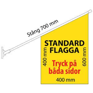 Frisör flagga med sax