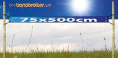 Dubbelsidig Banderoll Extra kraftig 75x500cm