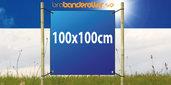 Dubbelsidig Banderoll Extra kraftig 100x100cm