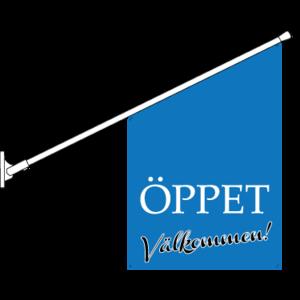 Öppet/Välkommen Flagga