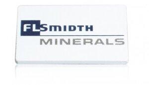 Magnet 40x25 mm Vit / Baksida 20 mm