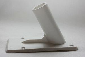 Väggfäste i plast 60° med tejp 19mm