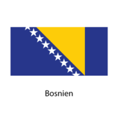 Bosnien Flagga