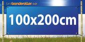 Dubbelsidig Banderoll Extra kraftig 100x200cm