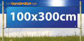 Dubbelsidig Banderoll Extra kraftig 100x300cm