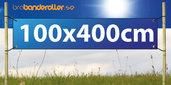 Dubbelsidig Banderoll Extra kraftig 100x400cm