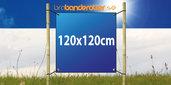 Dubbelsidig Banderoll Extra kraftig 120x120cm