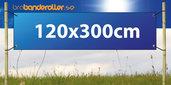 Dubbelsidig Banderoll Extra kraftig 120x300cm