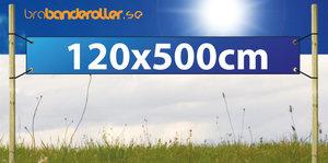 Dubbelsidig Banderoll Extra kraftig 120x500cm