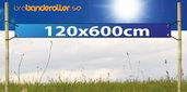 Dubbelsidig Banderoll Extra kraftig 120x600cm