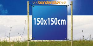 Dubbelsidig Banderoll Extra kraftig 150x150cm
